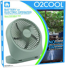 o2cool 10 inch battery or electric portable fan amazon com o2 cool fan 8 inch battery or electric operated indoor