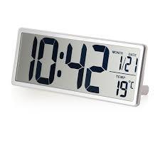 horloge de bureau design grand écran lcd numérique horloge murale avec kickout stand pour