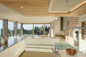 dining kitchen stairs sustainable house in newberg oregon