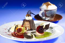 the mini desserts w cup of coffe stock photo picture and royalty