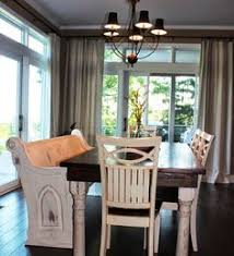 Church Pew Home Decor Dining Room Farmhouse Table And Church Pew Http