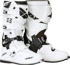 white motocross boots fly racing mx motocross sector boots white us 8 ebay
