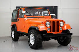 orange jeep cj brand new condition just restored garage find