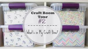 craft room tour 2 what u0027s in my craft bins youtube
