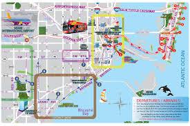 Maps Florida Miami Sightseeing Map City Sightseeing Miami Map Florida Usa