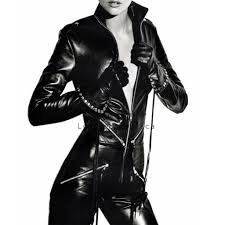 zipper jumpsuit zippered fastening leather jumpsuit stylish