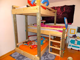 Triple Bunk Bed Designs How To Build Triple Bunk Beds Amys Office