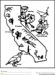 California State Flag California Coloring Pages With California State Seal Coloring Page