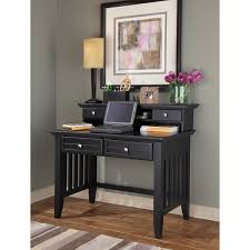 Black Writing Desk With Hutch 38 5 Inches High X 42 Inches Wide X 24 Inches 350 Arts And