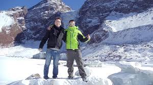 glacier trekking andean springs santiago de chile day tour