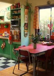 Retro Kitchen Cabinet Kitchen Style Small Kitchen Decorating Ideas With Reds Ceramic