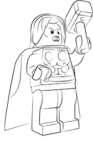 Coloriage Lego Thor à imprimer