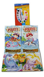 amazon com 4 dinosaurs u0026 pirates coloring books paint and