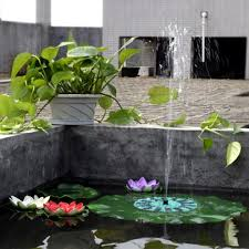 lotus leaf shaped solar floating fountain outdoor pond fountain