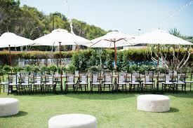 hampton event hire white market umbrellas long wooden dining