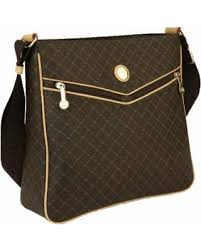 boo tiful sales on rioni brown monogrammed canvas messenger bag