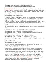 samples of essays about yourself topic writing essay topics english essay media essay topics calam eacute o cocaine essay sample topic ideas for a successful essay
