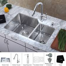 kitchen faucet and sink combo white undermount kitchen sink undermount bowl stainless