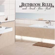 bathroom rules u2026 quote home bathroom uk wall sticker