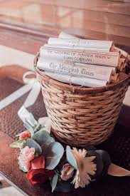 basket for wedding programs diy newspaper wedding program diy program wedding program