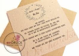 einladung hochzeit text hochzeitseinladung kraftpapier vintage kraftpapier