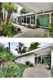 Midcentury Modern La Midcentury Mid Century Modern White Home Exterior High Tall Front