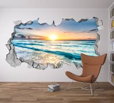beach view 3d wall art moonwallstickers com beach view 3d wall art