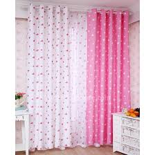 pink and white kids bedroom curtains free shipping