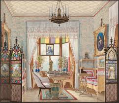 hampshire england idsworth church interiors paintings stock photo