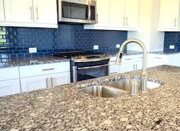 Blue Tile Kitchen Backsplash Blue Glass Subway Tile Kitchen Backsplash Kitchen Design Ideas