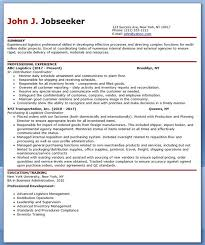 Logistics Supervisor Resume Samples by Logistics Resume Logistics Resume Logistics Management Specialist