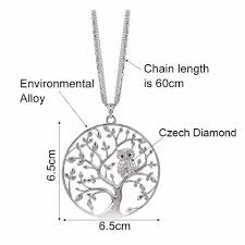 long owl pendant necklace images Owl tree of life pendant necklace nature 39 s treasure trove jpg