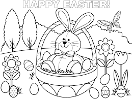 easter basket coloring easter picture easter egg tree color