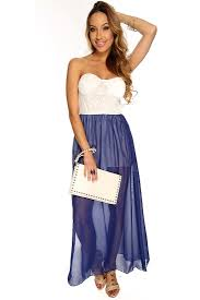royal blue white two tone floral crochet design sheer overlay maxi