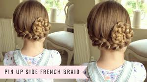 braided pinup hairstyles pin up side french braid by sweethearts hair youtube