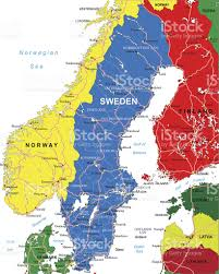 Map Sweden Map Of Sweden Including Norway And Finland Stock Vector Art