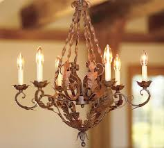 Candle Chandelier Pottery Barn Lisbon Chandelier Pottery Barn