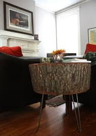 Tree Stump Nightstand 17 Apart How To Diy Stump Table