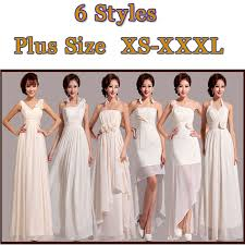 dresses to wear to graduation free shipping 6 designs modest bridesmaid dress white chiffon