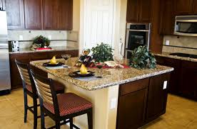 adorable espresso kitchen cabinets features white granite
