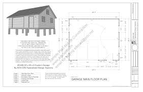 g448 24 u0027 x 20 u0027 x 8 u0027 free pdf garage plans blueprints construction