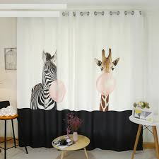 Monkey Curtains Nursery Online Get Cheap Children Curtains Giraffe Aliexpress Com