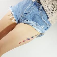 15 phases of the moon tattoos on thigh
