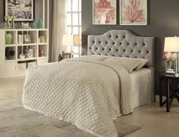 idealbed st martin upholstered button tufted headboard in grey