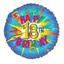 send birthday balloons in a box 18th birthday balloon send 18th birthday helium balloons