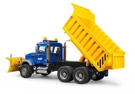 bruder farm toys amazon com bruder mack granite dump truck with snow plow blade