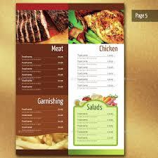 illustrator menu template 28 images seafood menu illustrator