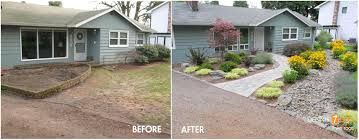 landscaping landscaping ideas front yard pictures before and after