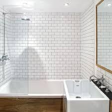 Scandinavian Bathroom Design Magnificent Scandinavian Small Bathroom Design With White Tile And