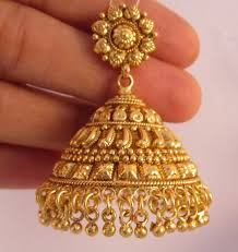 gold jhumka earrings buy earrings jhumka chandelier gold plated temple jewellery online